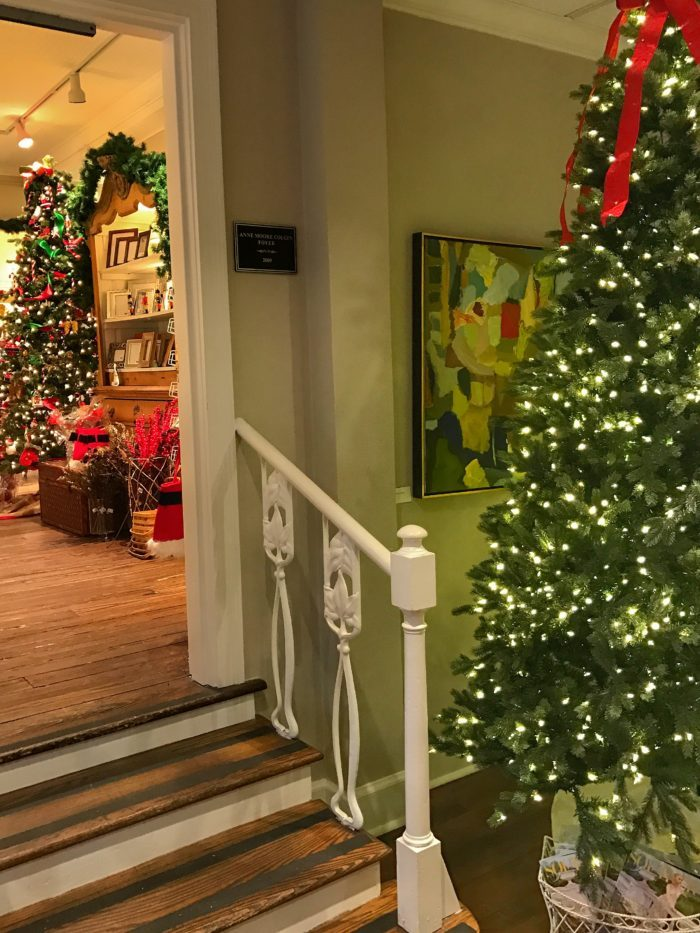 Christmas trees and gift shop at Swan Coach House