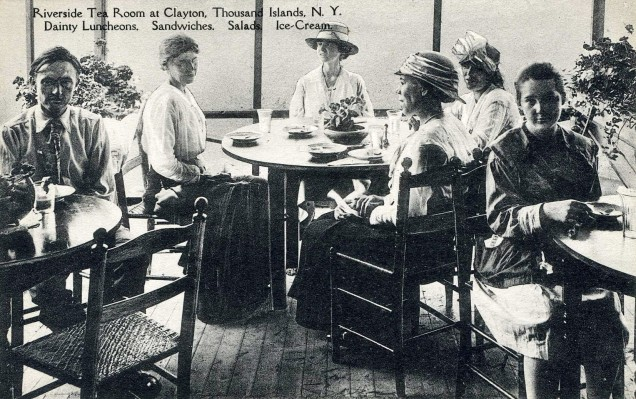 "Riverside Tea Room, Thousand Islands, NY, courtesy of Jan Whitaker ""From Patrons to Chefs, a History of Women in Restaurants"" Boston Hospitality Review"