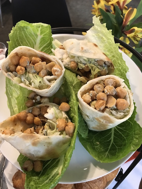 Buffalo chickpea wrap at Just Add Honey afternoon tea