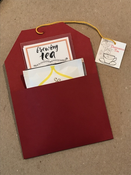 Tea-themed party favors