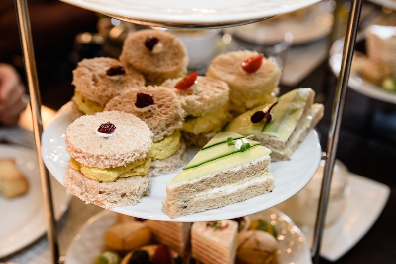Tea sandwiches at afternoon tea at Four Seasons Atlanta