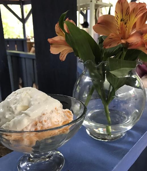 Dessert trifle at Peacock Tea Room