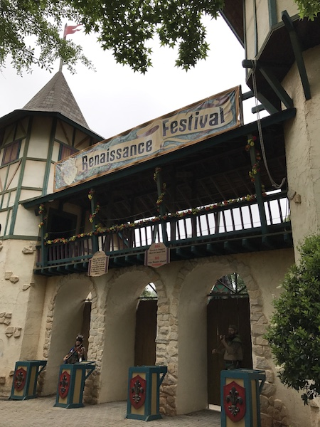 Arrive 15 minutes before the GA Renaissance festival opens to see the opening act
