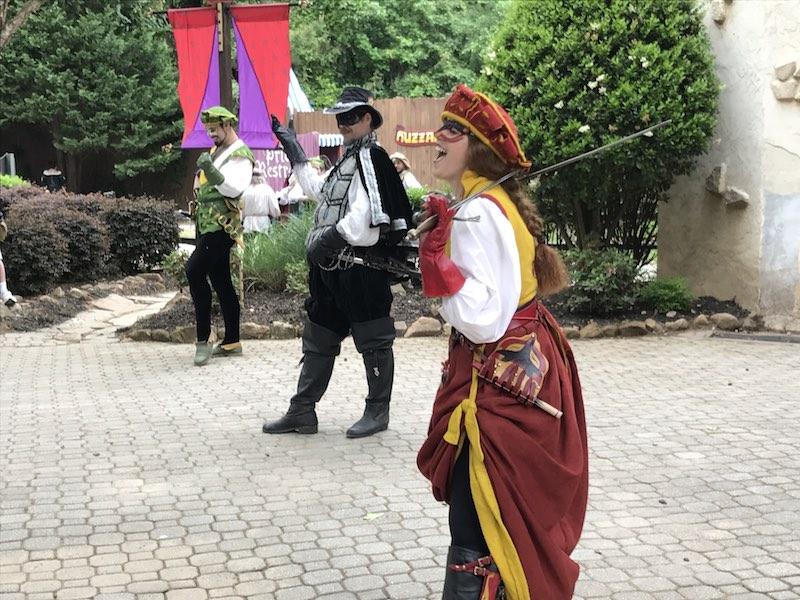 Kissing bandit at the Georgia Renaissance Festival
