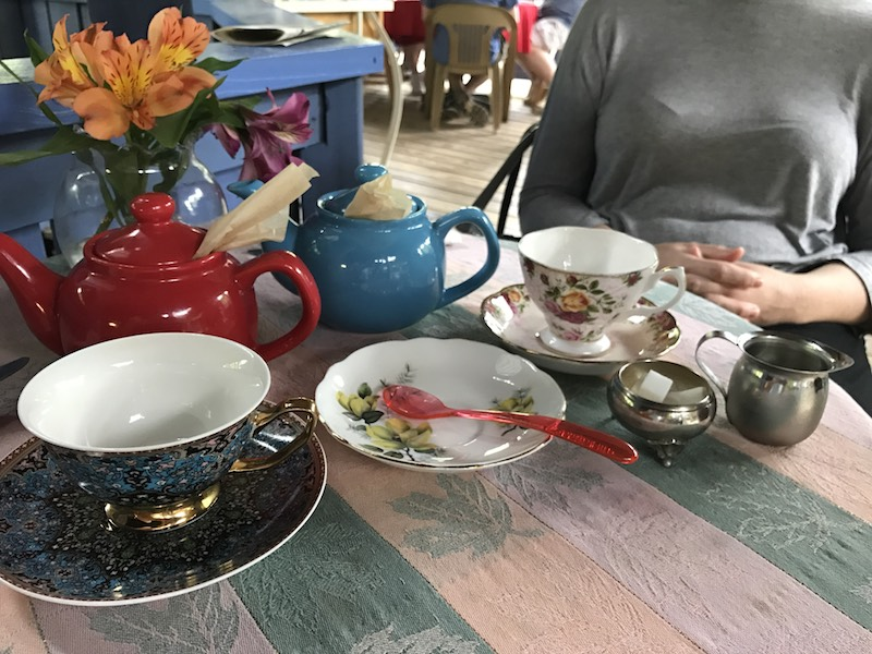 Pretty teacups at Peacock Tea Room