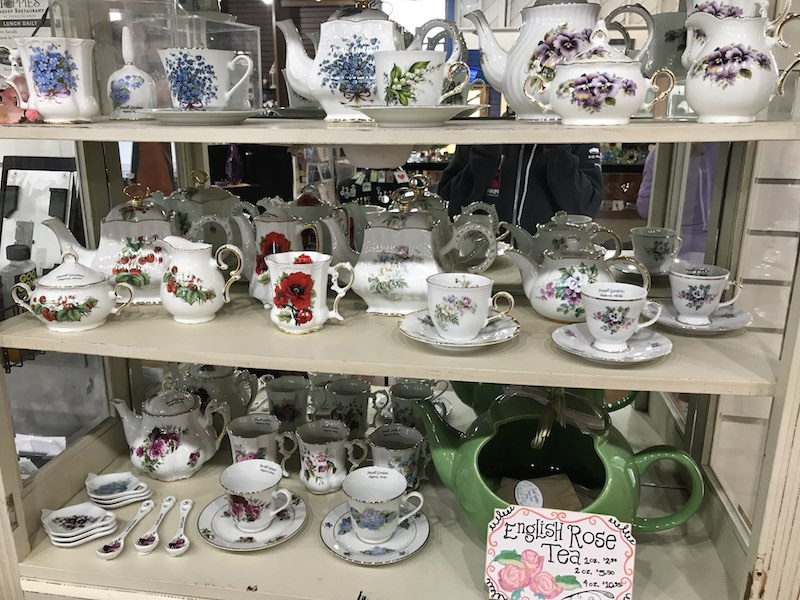 Jewell Gardens' teasets and English Rose tea for sale