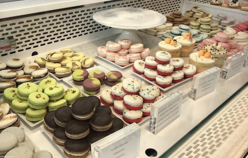 Macaron selection at Soirette