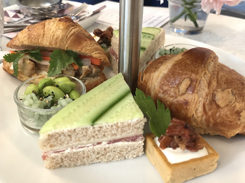 Tea sandwiches and savories at Soirette's afternoon tea