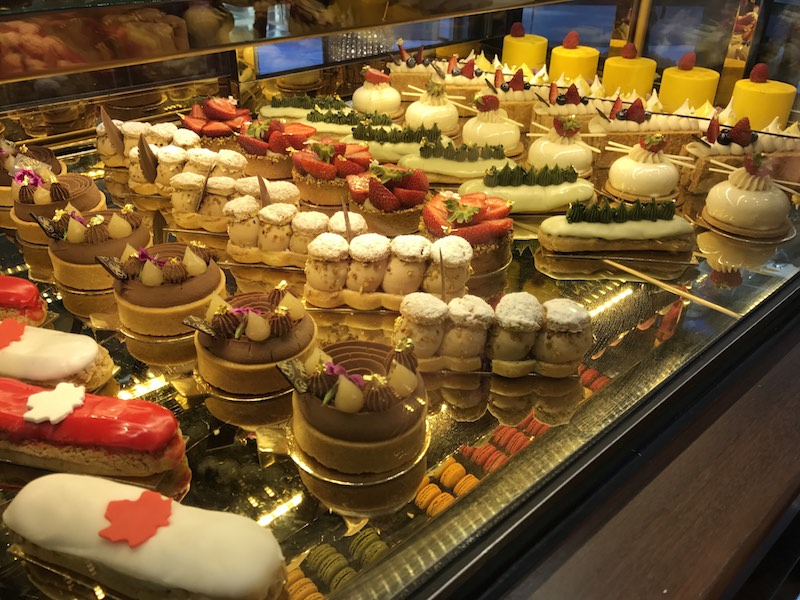 Dessert choices at TWG Salon in Vancouver's afternoon tea