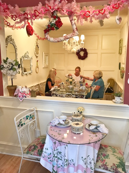 Frilly interior Calabash Garden Tea Room afternoon tea