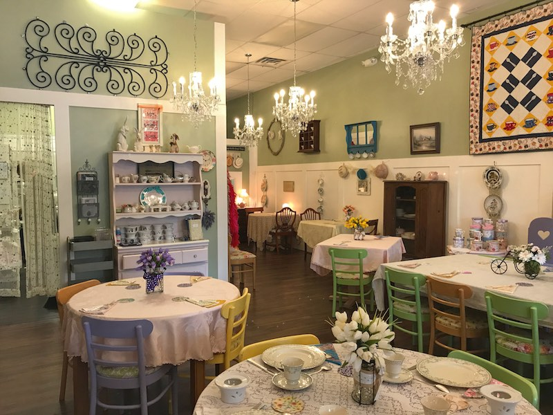 Interior Whitney's Tea Room in South Carolina