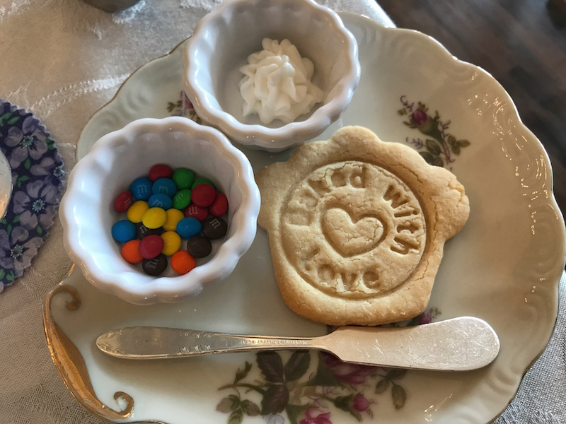 Cookie decorating at Whitney's Tea Room