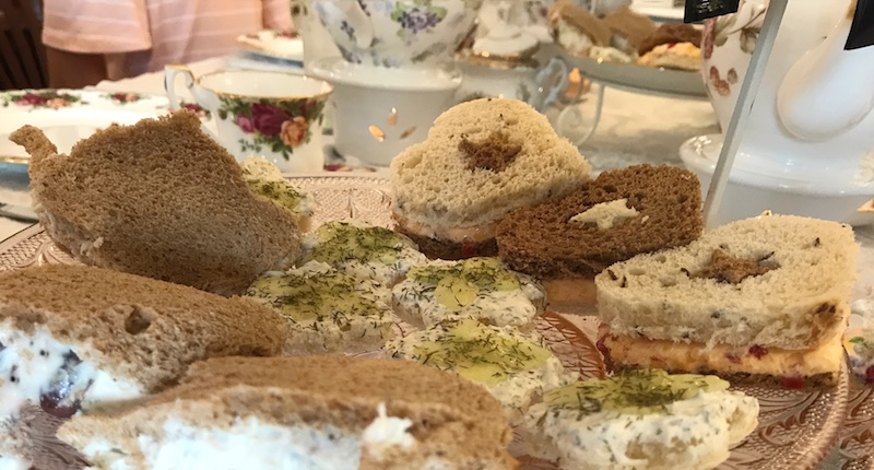 Tea sandwiches at Whitney's Tea Room afternoon tea
