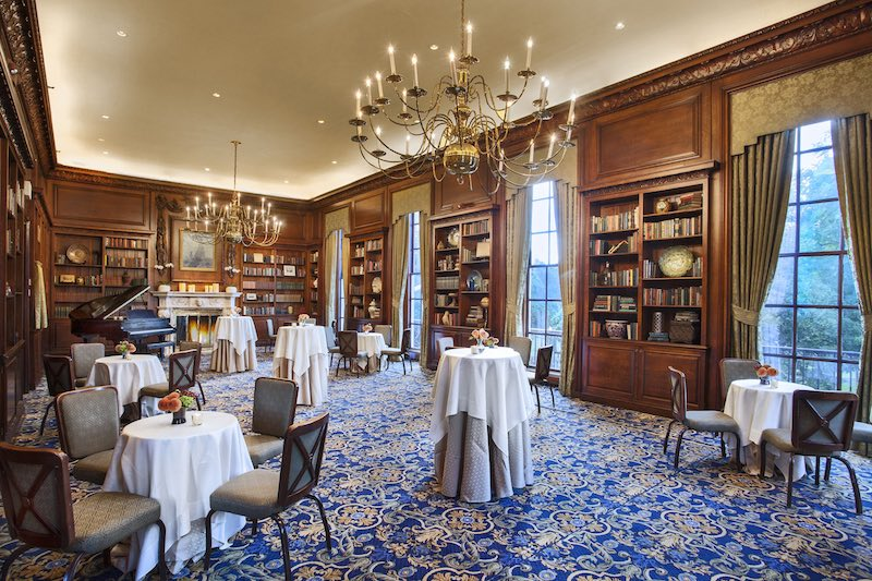 Hampshire House Library for afternoon tea or high tea in Boston, MA