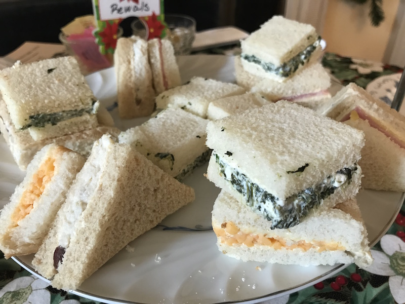 Tea sandwiches at Montpelier Mansion in Laurel, MD