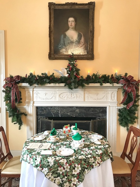 Table for tea at Montpelier Mansion in Laurel, MD