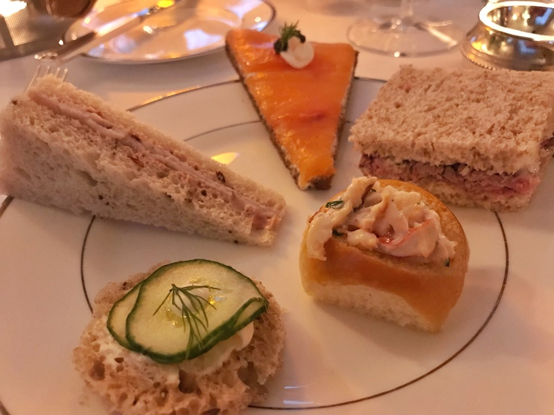 Tea sandwiches at The Lowell