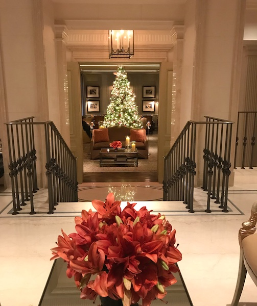 Christmas color at The Lowell in NYC