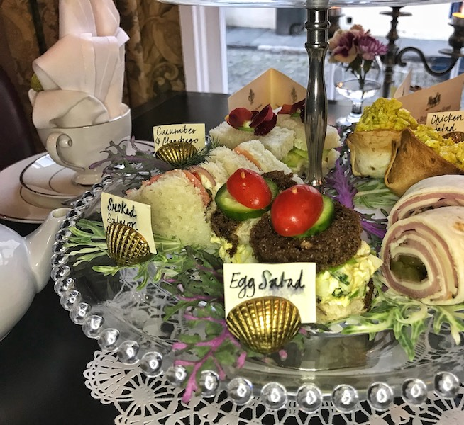 Tea sandwiches at East Bay Meeting House in Charleston, SC