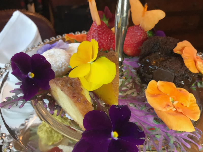 Dessert at afternoon tea at East Bay Meeting House in Charleston, SC