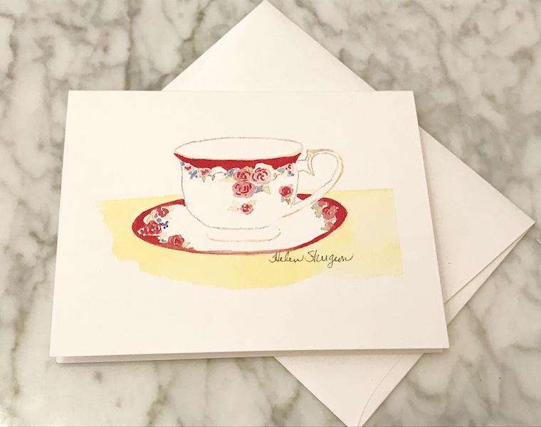 tea notecard from Joy Breedlove