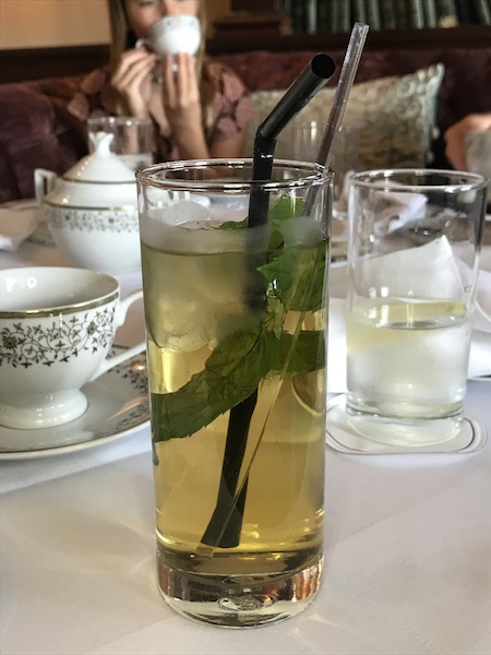 Iced mint tea at Mount Juliet Estate