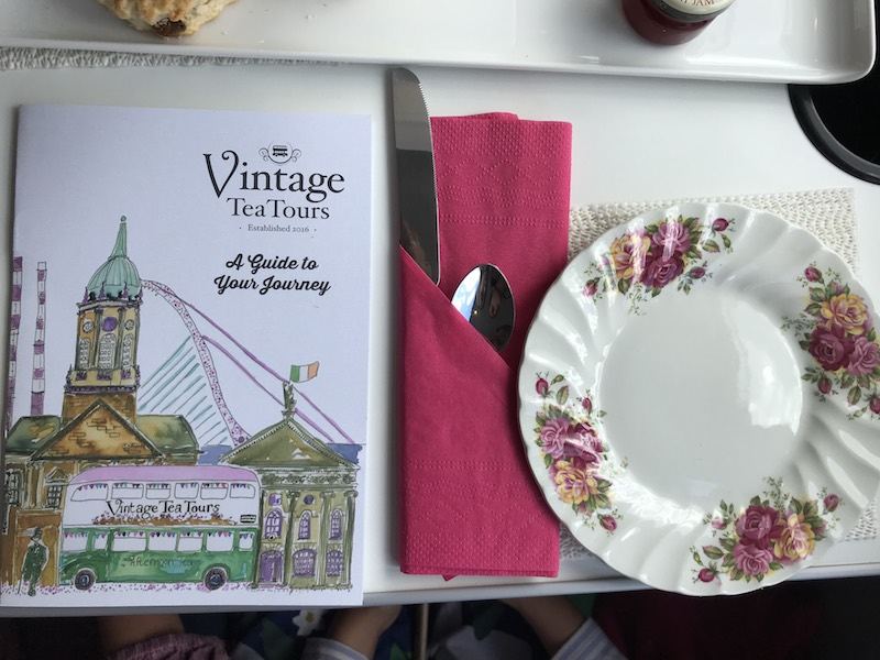 Table setting at Vintage Tea Tours