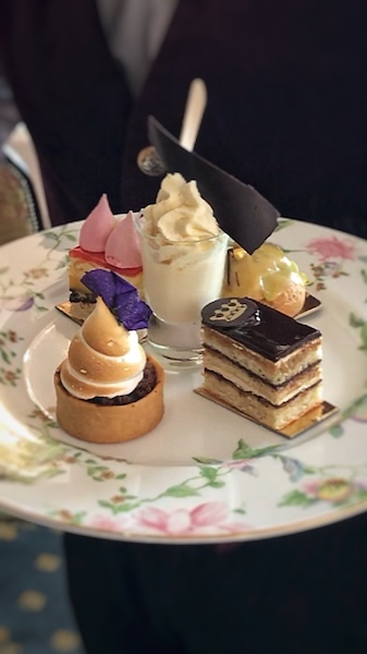 afternoon tea desserts at Dromoland Castle
