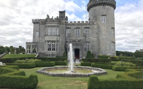 exterior Dromoland Castle in County Clare, Ireland