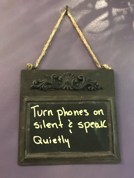 sign at Annastasia's Tea Room in Gainesville, GA