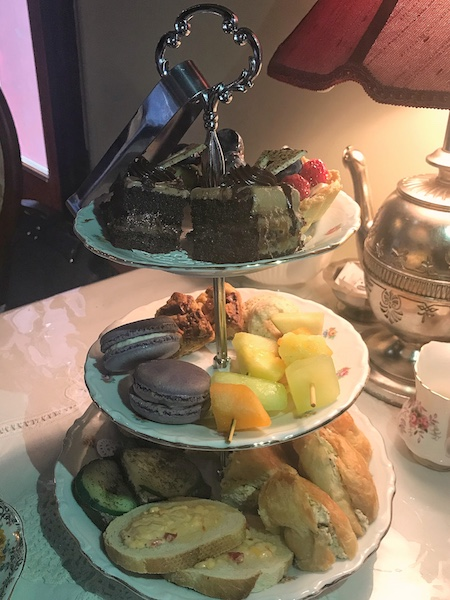 afternoon tea tray at Fergusson's on the Square in Hoschton, GA