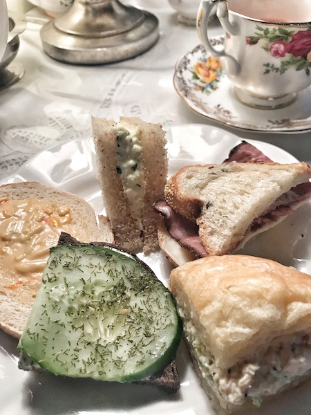 tea sandwiches at Fergusson's on the Square, Hoschton, GA