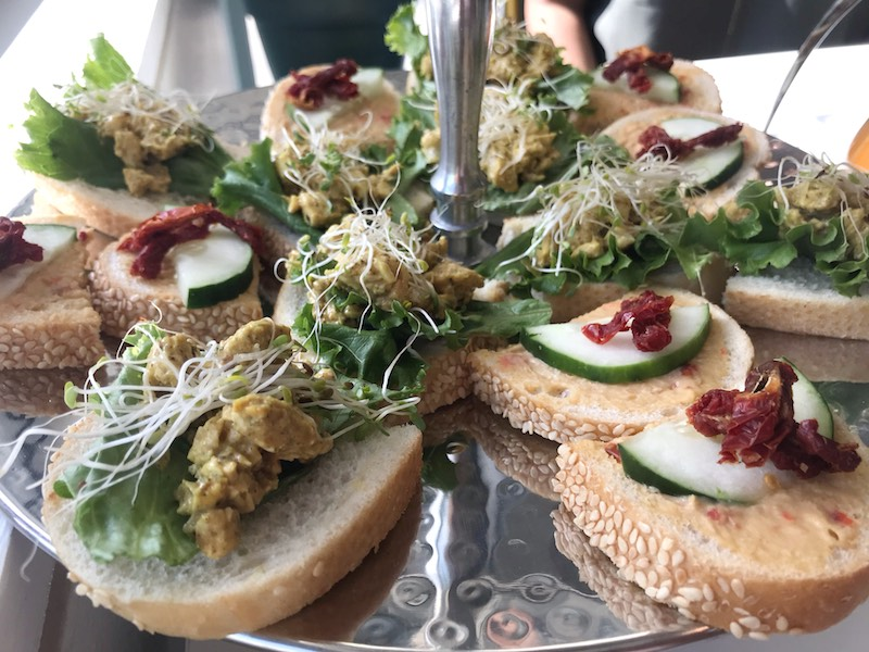 Tea sandwiches at Jayida Che Herbal Tea Spot in East Atlanta