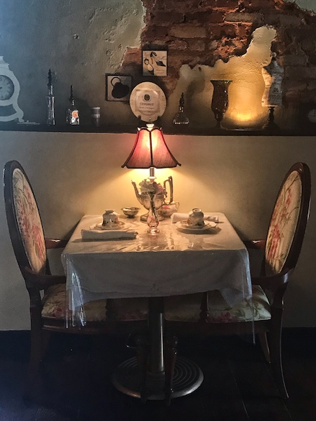tea table at Fergusson's on the Square, Hoschton, GA