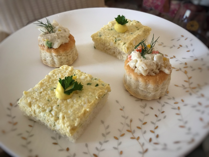 tea sandwiches at Taj Boston