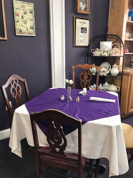 Table at British Pantry