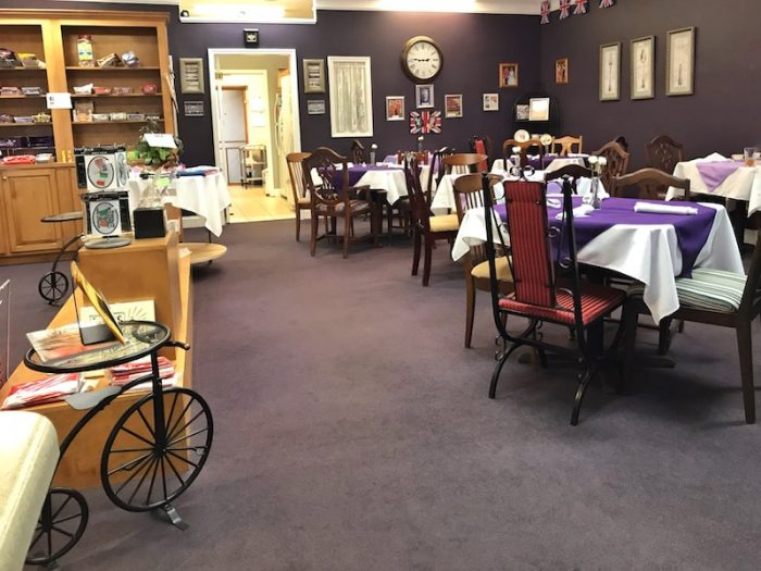 Interior British Pantry and Tearoom in Centerville, Ga