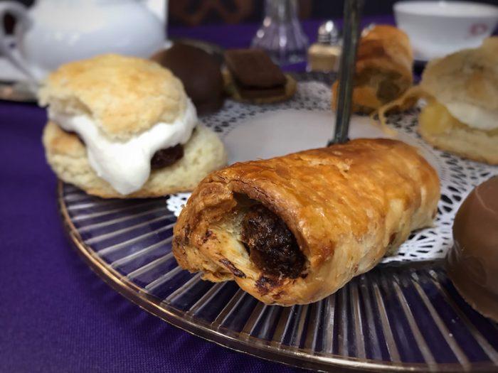 Sausage rolls at British Pantry & Tearoom in Centerville, GA