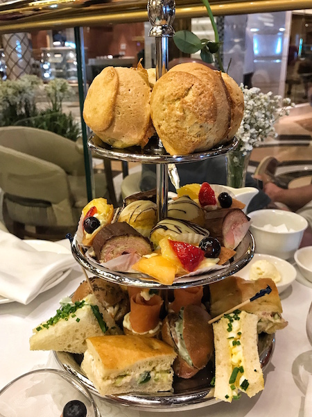 three-tiered tray at Regal Princess Cruise afternoon tea
