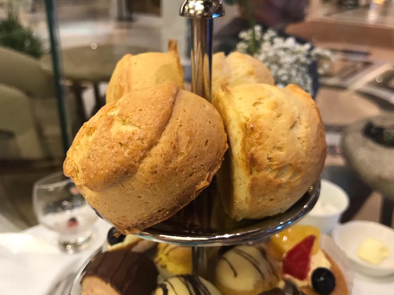 scones on Regal Princess Cruise afternoon tea