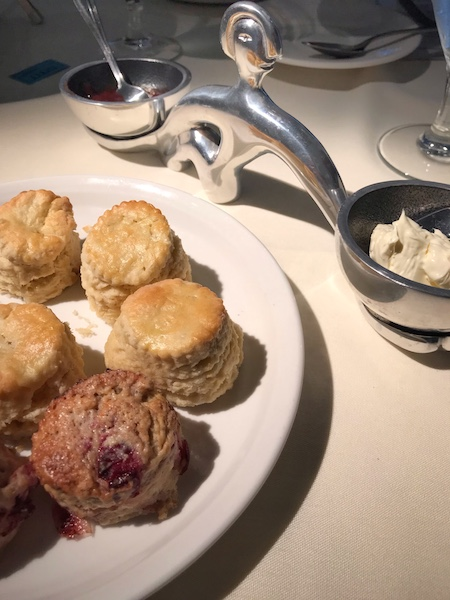 scones and spreads at bistro VG tea in Roswell, GA