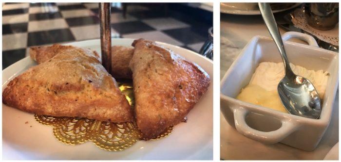 Scones with lemon curd and cream at The Cavalier Hotel, VA
