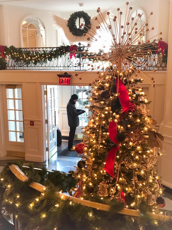 Foyer Christmas tree at The Cavalier Hotel, VA