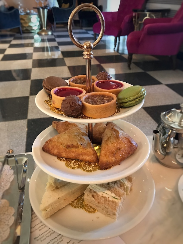 Tea sandwiches at The Cavalier Hotel in Virginia Beach, VA