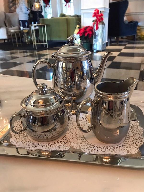 Silver teaset at The Cavalier, Virginia Beach, VA