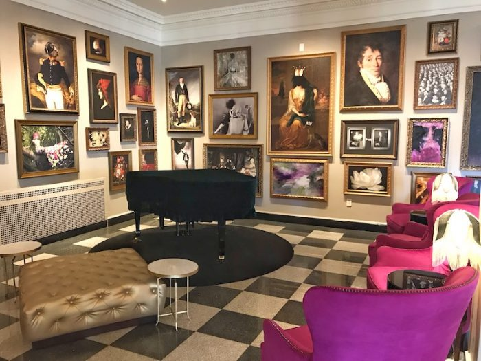 The Raleigh Room artwork in The Cavalier Hotel