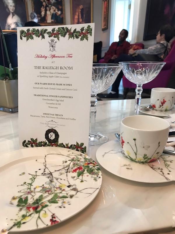 Beautiful tea set at The Cavalier Hotel, VA
