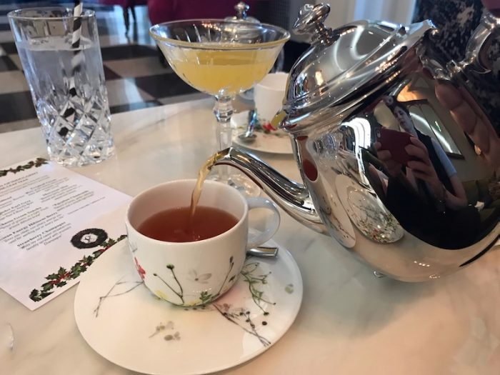 Pouring tea at The Cavalier Hotel, Virginia Beach, VA