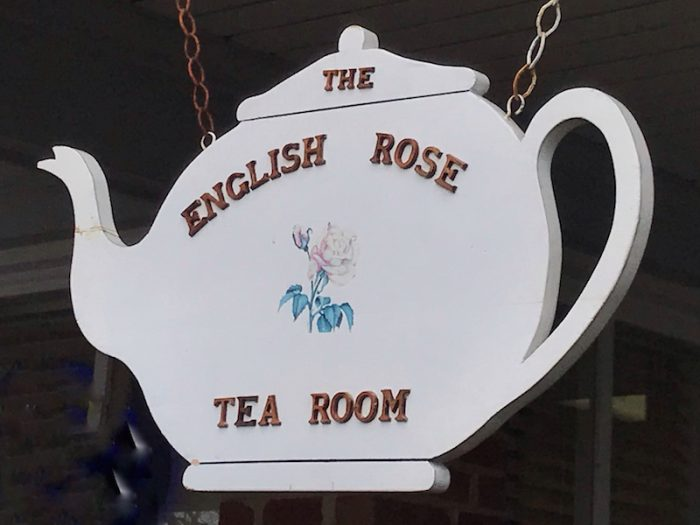 The English Rose signage