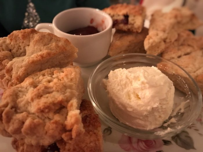 Scones and clotted cream at Sweet Tease in Belmar, NJ